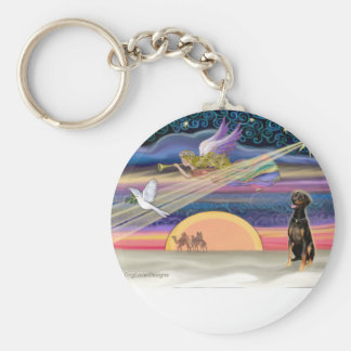 Christmas Star - Doberman (natural) Key Chains