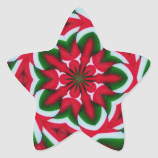 Christmas Star Flower Kaleidoscope Star Sticker