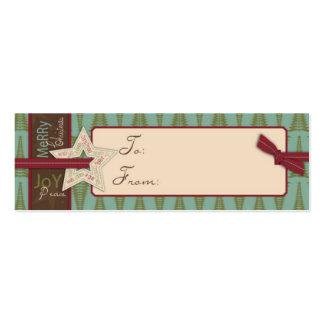 Christmas Star Gift Tag Mini Business Card