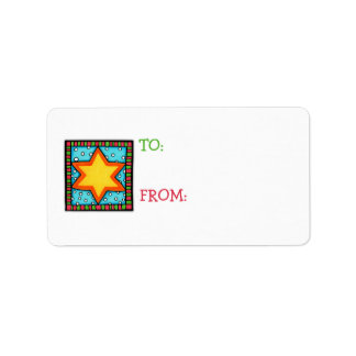 Christmas Star Gift Tag Sticker Address Label