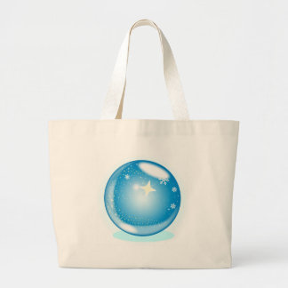 Christmas Star Globe Large Tote Bag