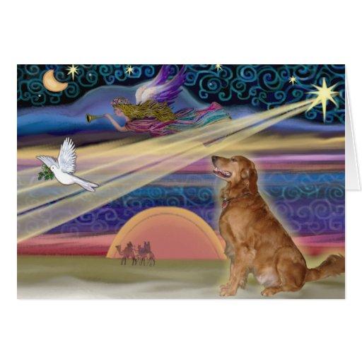 Christmas Star - Golden Retriever #3 Greeting Cards