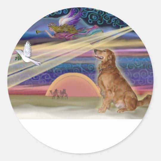 Christmas Star - Golden Retriever #3 Classic Round Sticker