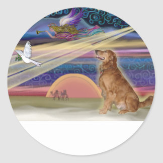 Christmas Star - Golden Retriever 3 Stickers