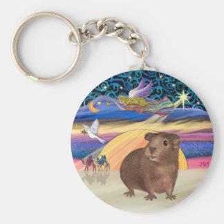 Christmas Star-Guinea Pig 3 Keychain