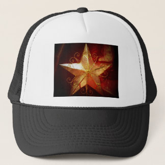 christmas star in spot light trucker hat