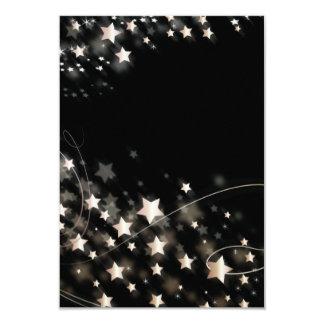 "Christmas Star 3.5"" X 5"" Invitation Card"