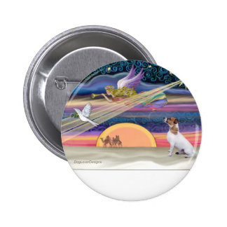 Christmas Star - Jack Russell Terrier Button