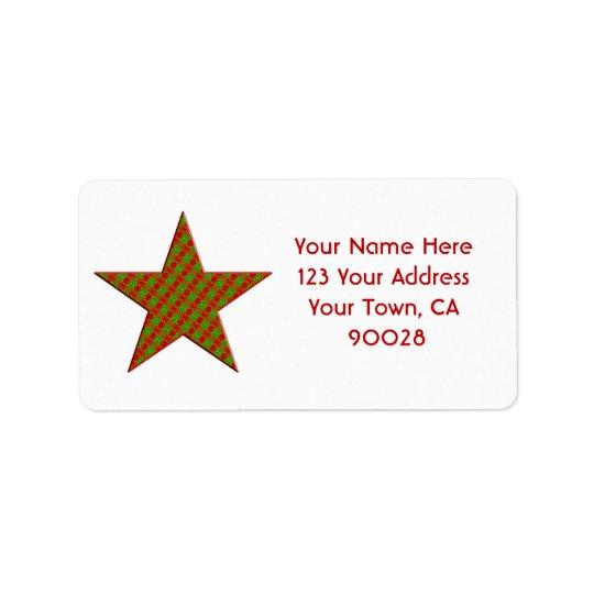 Christmas star label