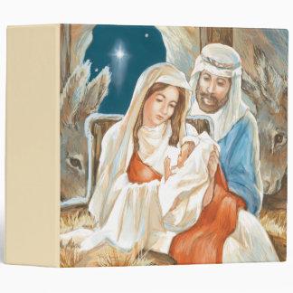 Christmas Star Nativity Painting 3 Ring Binders