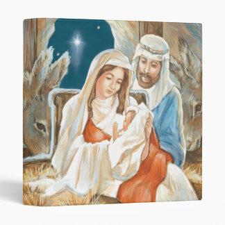 Christmas Star Nativity Painting Binder