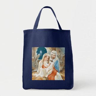 Christmas Star Nativity Painting Canvas Bag