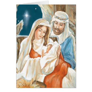 Christmas Star Nativity Painting Cards