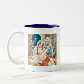 Christmas Star Nativity Painting Coffee Mug