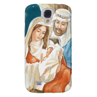 Christmas Star Nativity Painting Galaxy S4 Cases