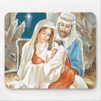 Christmas Star Nativity Painting Mousepads
