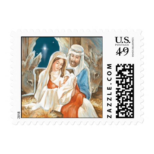 Christmas Star Nativity Painting Postage Stamps