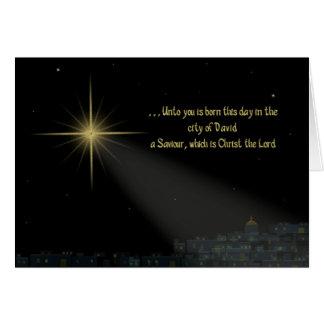 Christmas - Star of David - Christian Card