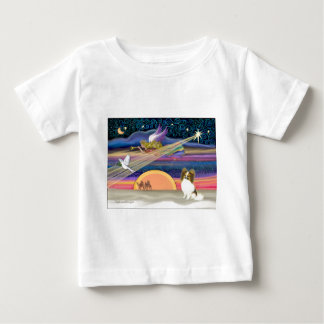 Christmas Star - Papillon (fawn #5) Baby T-Shirt