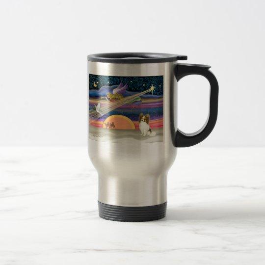 Christmas Star - Papillon (fawn #5) Travel Mug