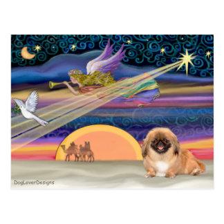 Christmas Star - Pekingese #1(red) Postcard