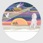 Christmas Star - Poodle (white Standard) - Stickers