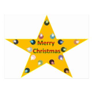 Christmas star postcard