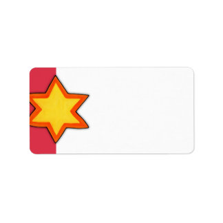 Christmas Star red Address Label
