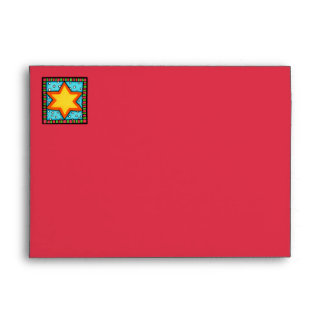 Christmas Star red blue A7 Card Envelope