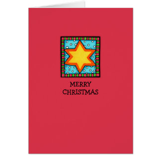 Christmas Star red Card