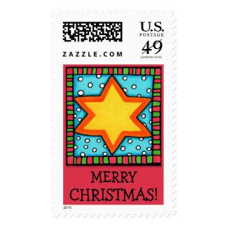 Christmas Star red Christmas Stamp