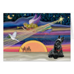 Christmas Star - Scottish Terrier 2B Greeting Cards
