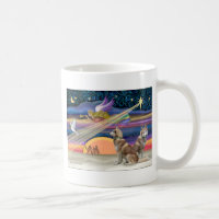 Christmas Star - Siberian Husky (two red) Coffee Mug