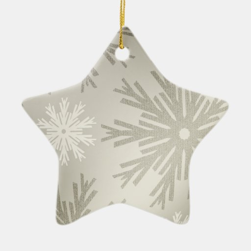 Christmas Star Snowflakes Silver ornament