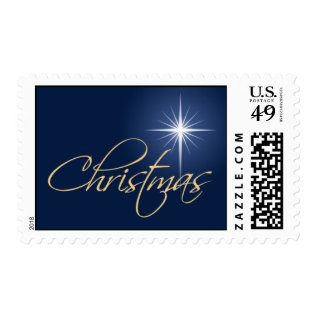 Christmas Star Stamp at Zazzle