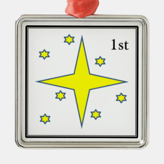 Christmas star stamp ornament