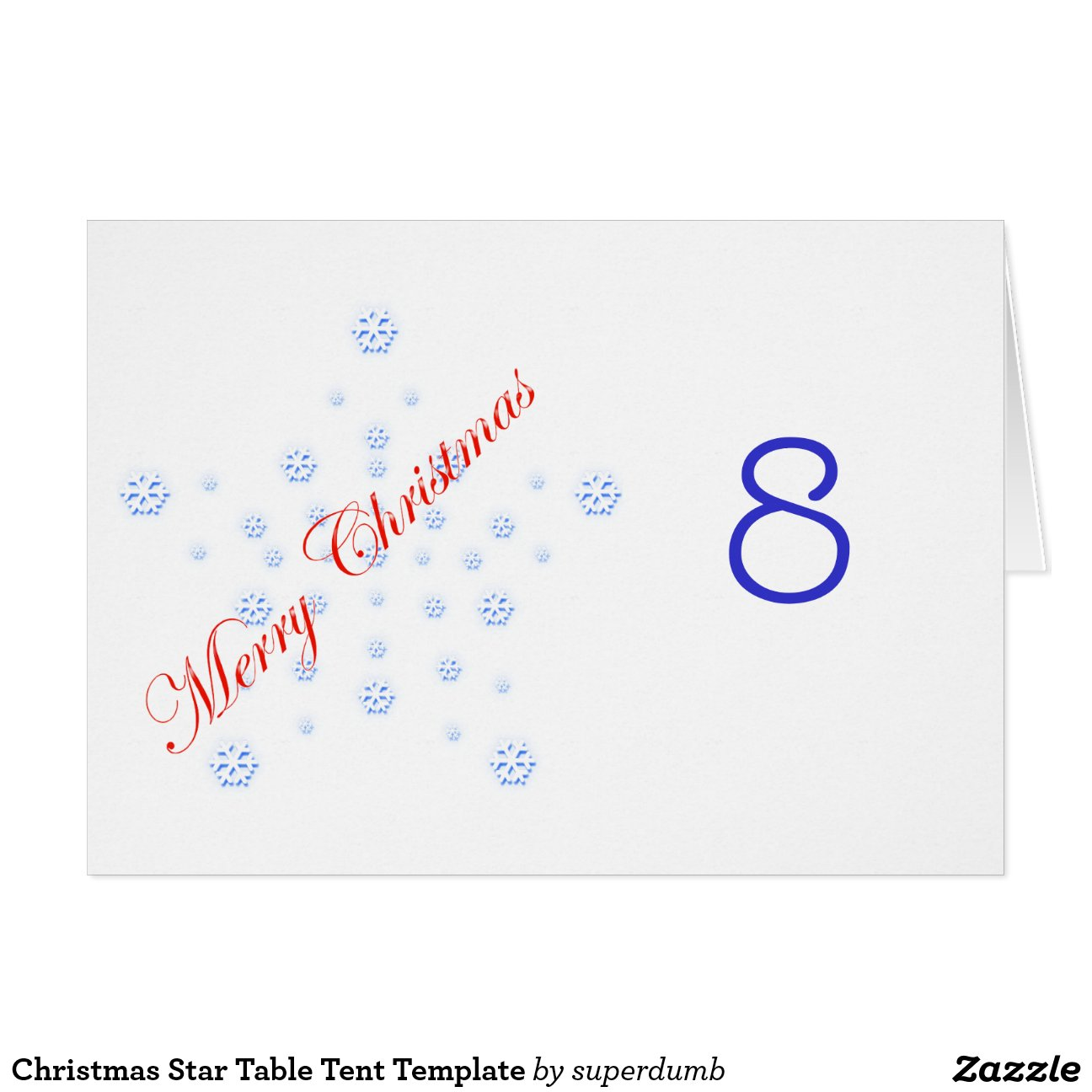 Christmas Star Table Tent Template Stationery Note Card Zazzle s4W427RS  sc 1 st  CyberUse & Table Tent Template | cyberuse
