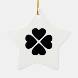 Christmas star talisman clover sheet heart ceramic ornament