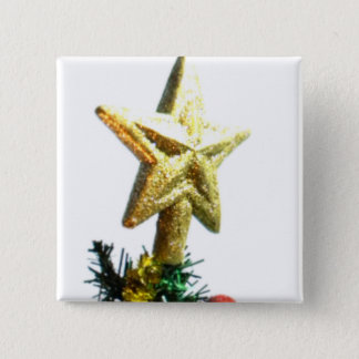 Christmas Star Top I Pinback Button