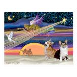 Christmas Star - Welsh Corgi (2 Pembroke) Postcards
