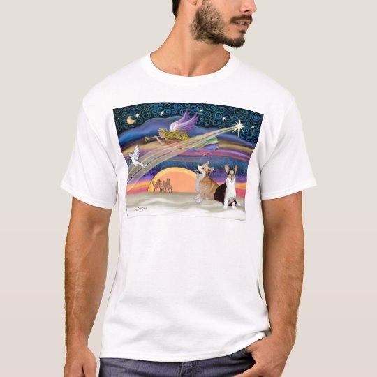 Christmas Star - Welsh Corgi (2 Pembroke) T-Shirt