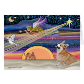 Christmas Star - Welsh Corgi #7B Card
