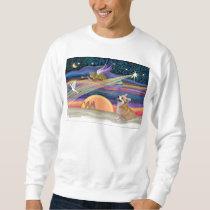 Christmas Star - Welsh Corgi #7B Sweatshirt