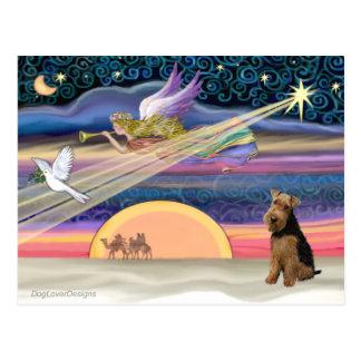 Christmas Star - Welsh Terrier Postcards