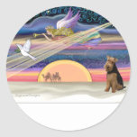 Christmas Star - Welsh Terrier Stickers