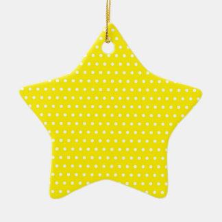 Christmas star with Pünktchen, points spots POINTs Ceramic Ornament