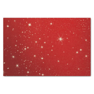"Christmas Starry Red Night Sky Tissue Paper 10"" X 15"" Tissue Paper"