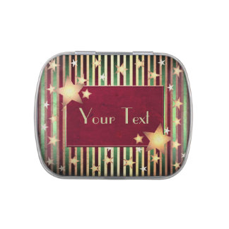 Christmas Stars and Stripes Candy Tins