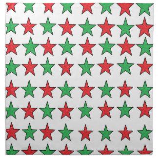 Christmas Stars Cloth Napkins
