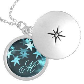 Christmas stars custom monogram necklace for her